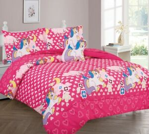 1 Comforter 1 Flat 1 Fitted Sheet 1 Case 1 Sham 1 decorative Pillow TWIN KIDS
