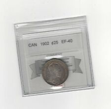 **1902** Coin Mart Graded Canadian, 25 Cent, **EF-40**