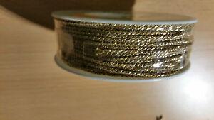 Viscose-Kordel 2 mm gold glänzend 5 m
