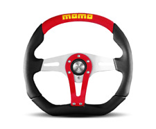 "MOMO Steering Wheel Trek Red  Leather 350mm  TRK35BK0R ""US Dealer"""
