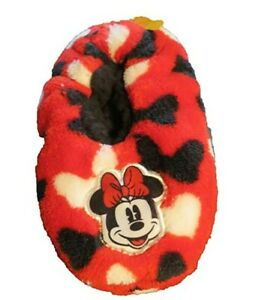 Disney Minnie Mouse Red Moccasin Slippers Size 3T to 4T