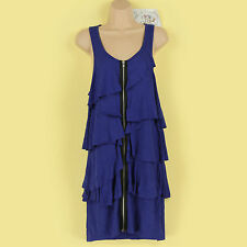 BNWT BLUE LOVE LABEL TIERED ZIPPER FRONT RACER BACK SUMMER/ PARTY DRESS SIZE 12