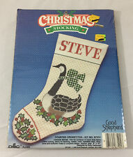 Cross Stitch Kit Christmas Stocking Canada Goose Sealed Crafts DIY