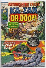 (1970) ASTONISHING TALES #1 KA-ZAR vs KRAVEN! DR. DOOM by WALLY WOOD! 4.5 / VG+