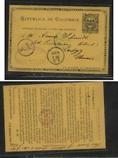 Colombia  nice postal  card  stamp dealer to  Germany   1902          MS0109