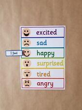 I Feel Peg Chart, Feelings, Emotions, EYFS, Autism, ADHD, ASD, speech delay,