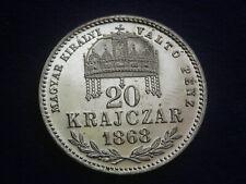"20 Kreuzer 1868 KB Krajczar – Franz Josef  "" Erhaltung ""  W/19/863"