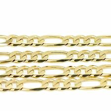 "10k Yellow Gold Figaro Chain Necklace 20""(new,24.00g)#2484c"