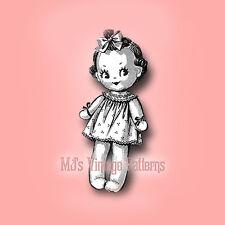 Vintage Sock Doll Pattern ~ Wide-Eyed Girl