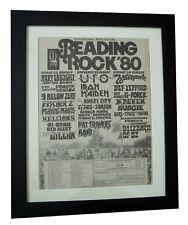 READING FESTIVAL+ROCK 1980+POSTER+AD+FRAMED+ORIGINAL+EXPRESS GLOBAL SHIP+TICKETS
