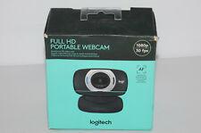 Logitech C615 1080P FULL HD Portable Webcam | AF Autofocus | Black (V-U0027)