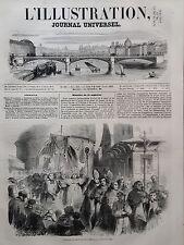 L' ILLUSTRATION 1850 N 389 PROCESSION DU CONCILE DE BORDEAUX, LE 30 JUILLET 1850