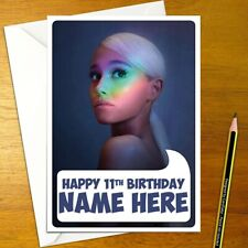 ARIANA GRANDE Personalised Birthday Card - singer music personalized