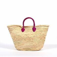 Market or Gift Basket Leather Handles, Beach Basket