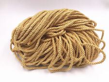 5-100m 5MM Polyester Rope Cord Gold color Silk Thread Rope Findings Accessories