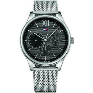 Mens Wristwatch TOMMY HILFIGER DAMON THW1791415 Multifunction Steel Black Mesh