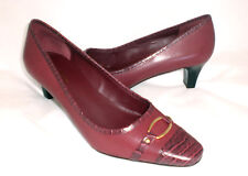 Easy Spirit Ceana leather pump RED detailed sz 9 Md NEW