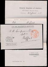 SCOTLAND 1908 OFFICIAL PAID REGISTER of SASINES EDINBURGH RED CIRCLE