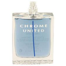 Chrome United by Azzaro 3.4 oz EDT Cologne for Men Brand New Tester