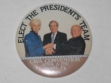 CWA Communication Workers Of America Button Pin Badge Elect Presidents Team