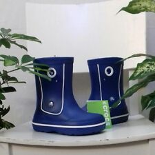 Blue Crocs Kids boys Croc brand Jaunt Wellington boots Size 12 ( Junior 12 ) NEW