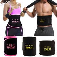 Men&Women Sweat Waist Trimmer Fat Burn Tummy Belt Fitness Cincher Body Shaper US