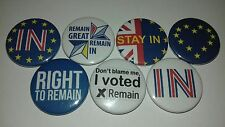 7 EU Right to Remain in pin Button badges I voted stay Europe Remainer love 25mm