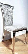 LUXURY ITALIAN STYLE DINING CHAIRS ( CRUSHED SILVER )