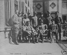 "Russian Cossack General Semenoff & US Army General Graves World War 1 5x4"" Rep a"