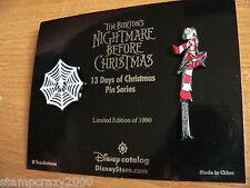 NBC 13 Days of Nightmare Before Christmas #1 Jack & Spider Web Disney 2 Pin Set