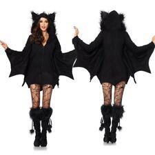 Women Vampire Bat Costume Adult Cosplay Jumpsuit Halloween Fancy Dress Outfit