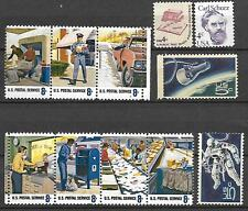 #1489S - 8¢ Postal Service Employees, #1489 - 8¢ Stamp Counter, #1491 - 8¢ C MNH