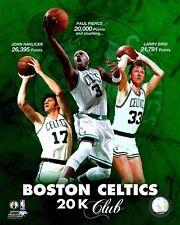 "Boston Celtics 20K Club ""Havlicek, Bird, Pierce"" Licensed 8x10 Glossy Photo A1"