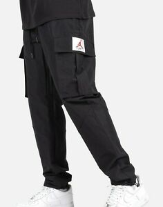 Nike Air Jordan Wings Of Flight Woven Pants Mens Size Large - Black