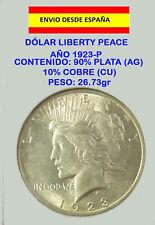 DOLAR DE PLATA LIBERTY PEACE 1923-P EXCELENTE ESTADO SILVER DOLLAR USA