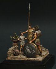 Resin soldier, museum, Spartan hoplite, Son, hero, Greco Persian War, 54 mm