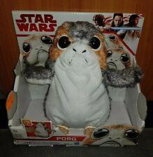 """Disney Star Wars The Last Jedi Porg Action Peluche 8/"""" Moving BOUCHE /& Ailes Entièrement neuf dans sa boîte"""