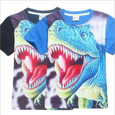 JURASSIC PARK Kids Boys Summer Casual Cartoon T shirts Children Tops Clothes