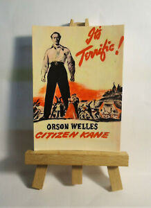 Citizen Kane Movie Poster 1941 ACEO Original PAINTING by Ray Dicken