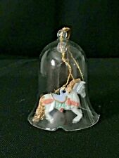 """Two Cute Little Bells One Is A Rabbit & One Is A Rocking Horse They Are 3"""" Tall"""