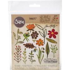 Sizzix Thinlits Die Set 15PK - Funky Floral #2 662701