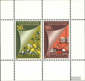 Surinam Bloque 42 (edición completa) nuevo 1985 independencia