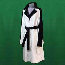"""ERICH FEND """"NELAT"""" Trenchcoat Neu UVP 249€ Mantel Größe 38 40 Schwarz Weiß jacke"""