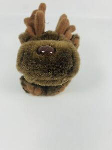 "Puffkins Stuffed Plush Keychain ""Gus"" the moose No Tags"