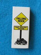 Wooden Matches Matchbook ~*~ FALLING  ROCK Tap House ~ Denver, COLORADO Beer Bar