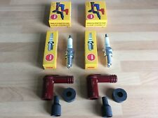 YAMAHA RS200 XS1 XS2 650 TX650 NGK SPARK PLUGS AND CAPS FREE POST!