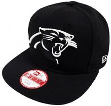 New era carolina panthers Black White logotipo SnapBack cap 9 fifty Limited Edition