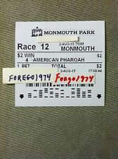 AMERICAN PHAROAH 2015 HASKELL $2 WINNING TICKET & RESULTS TOTE UNCASHED MINT