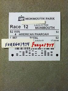 AMERICAN PHAROAH 2015 HASKELL $2 WINNING TICKET plus RESULTS TOTE UNCASHED MINT