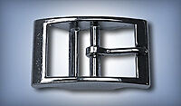 "1"" Square Double Bar Buckle - Nickel"